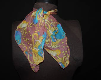 goldilocks sheer scarf 60s fairy tale neck tie novelty print neck bow