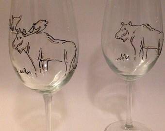 Moose Wine Glasses