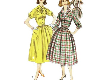 1950s Shirtwaist Dress Pattern Simplicity 2224 B31 Sz 11 Junior Size