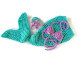 Crochet Mermaid Tail - Mermaid Blanket - Mermaid Tail  Blanket - Baby Mermaid Outfit - Mermaid Outfit - Newborn Mermaid Outfit - Mermaid Top