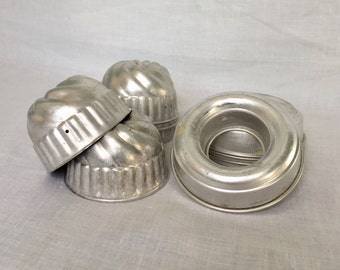 Vintage Small Cake Jello Molds Set of 10