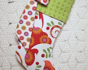 """Peacock Chenille Stocking 
