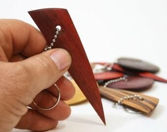 Key Chain Mini Potters Rib, Padauk Pottery Tool