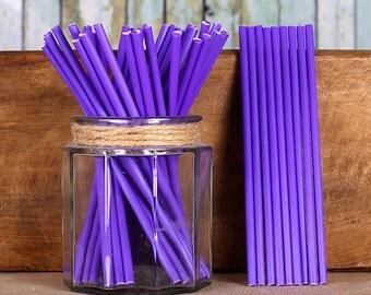 "6"" Purple Lollipop Sticks, Purple Cake Pop Sticks, Purple Sucker Sticks, Marshmallow Pop Sticks, Chocolate Lollipop Sticks"