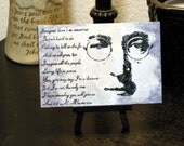 """Miniature Print on Canvas with Easel from Original Abstract Painting by Bryan Dubreuiel 4""""h by 6""""w Glazed Print"""