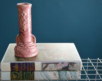Vintage 1950s Pink USA Pottery Vase