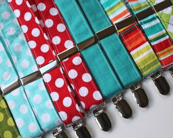 Little and Big Guy SUSPENDERS - Very Merry Holiday Collection- (Newborn-Adult) - Baby Boy Toddler Teen Man - Christmas Winter
