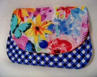 Card Keeper in Big Bang Blooms - Garden Party Collection - Credit Card Caddy - Business Card Holder - Ready To Ship
