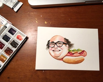 Danny Devito mini painting