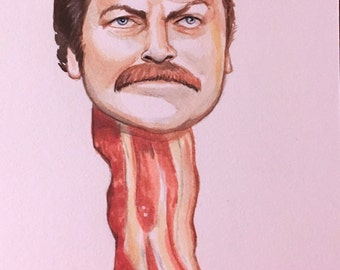 Nick Offerman Mini Painting