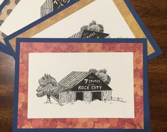 See Rock City - Handmade Greeting Card Note Card