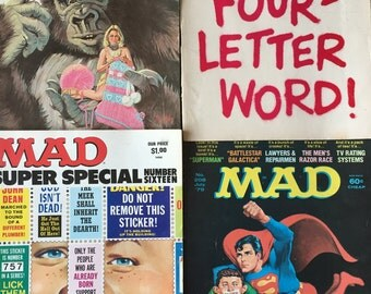 Mad Magazines Super Special Issue #16(1975), #163, #192, #208 Feldstein,Davis,Drucker Complete Issue lot of 4