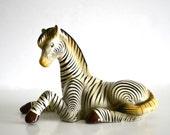 RESERVED Vintage Tonala Jal Mexico Paper Mache Zebra Sculpture Figure SICNE 5