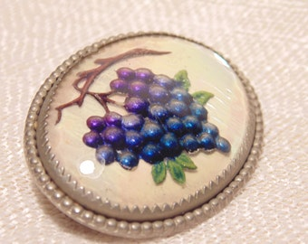 Victorian Grapes Brooch  Victorian Jewelry Antique Brooch Antique Jewelry Beveled Glass Vintage Pin Grape Jewelry Glass Brooch