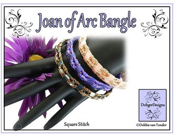 Tila Beading Pattern, Tutorial, Bangle - JOAN OF ARC