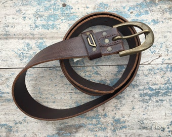 "Designer belts men EU size 95 cm / US size 38"" waist Diesel brown leather Made in Italy"