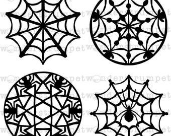 omg spiders! Doily Stencils