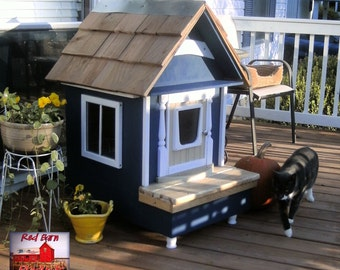 Red Barn Custom Heated Cat/Dog House