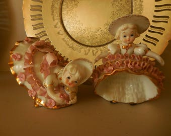 Two Geo Z. Lefton Southern Belle Figurines