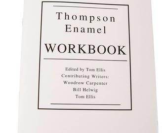 Thompson Enamel Workbook, Learn how to Enamel, Enameling Supplies, DIY Enameling, Thompson Enamel, Painting with Fire Studio, Enameling