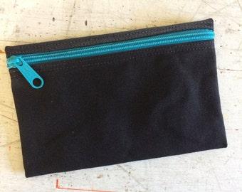 Zip Bag, Canvas zip bag, Makeup Bag, iPhone 7 bag, camping zip bag, small zip pouch, condom zip pouch, zip wallet, cord pouch, jewelry pouch