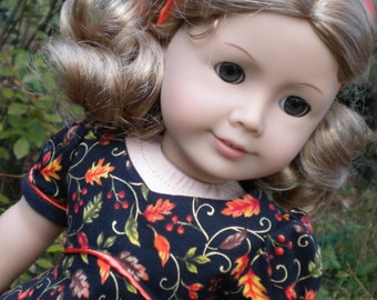 """Autumn Holiday dress for 18"""" similar to American Girl"""