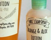 Orange Blossom Lotion with Aloe Vera -Oil-Free- Cool & Light-Great for Summer and Oily Skin