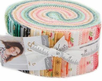 "Sugar Pie Jelly Roll by Lella Boutique for Moda Fabrics 5040JR 40 2.5"" x 42"" Fabric Strips"