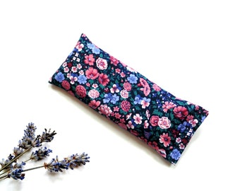 Organic lavender eye pillow, spa yoga relaxation meditation pillow gift for her, aromatherapy warm cold pack