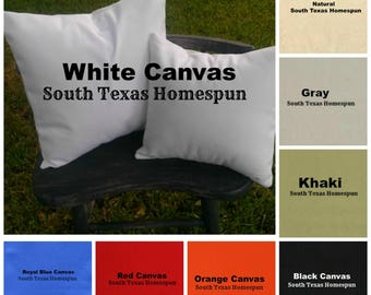 Canvas Pillow Cover blanks with Envelope Back in many colors White, Natural, Gray Black, Red, Blue ready to decorate with HTV or embroidery*