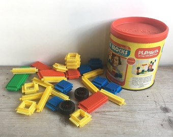 Playskool Bristle Blocks Original Container Retro Classic Toy