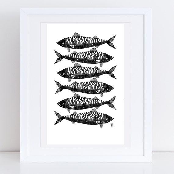Mackerel 2017 - Signed print