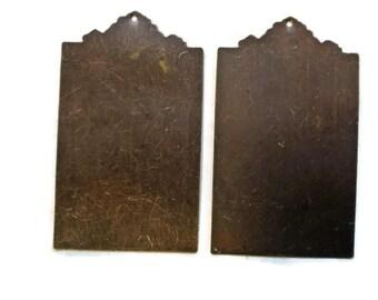 Vintaj Altered Blank Ornate Tag Blanks Plates Engraving Embossing Stamping N1426