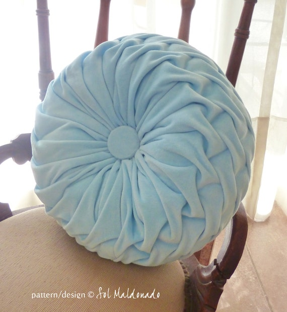 How To Make A Round Throw Pillow Cover : Round Pillow Smocked Sewing Pattern PDF decorative smock