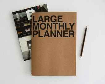 Monthly planner -large size