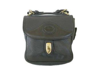 Vintage Dooney & Bourke Bag,  All Weather Leather Purse , Black Messenger bag