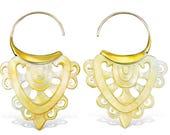 Brass & Shell Earrings for Sahara