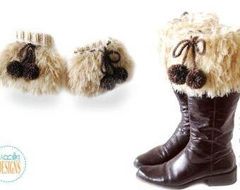 CROCHET PATTERN Furry Boot Cuffs Eh Crochet PDF Pattern with Instant Download