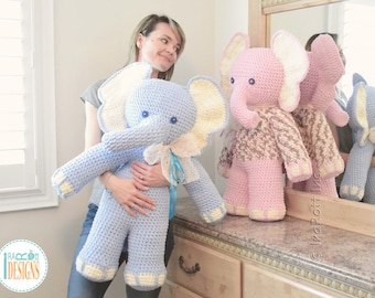 NEW  PATTERN - Josefina and Jeffery Big Amigurumi Elephants Crochet PDF Pattern with Instant Download