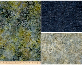 Blue & Green Batik Spill Proof  Knitting Case and Drawstring Bag / Tote  - Interchangeable Circular DPN Tunisian Organizer or Crochet Hooks