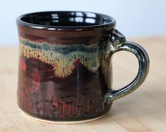 Red Nebula Galaxy Mug