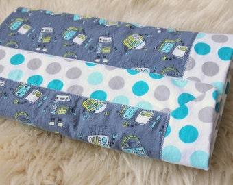 Modern Flannel Blanket, Robots, Robot Receiving Blanket, Baby Blanket, Flannel Receiving Blanket, Baby Boy, Receiving Blanket, Handmade
