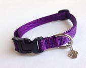 Small Simply Purple Dog Collar