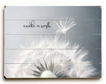 Dandelion Print, Wood Plank Art, Dandelion Photo, Photograph on Wood, Wood Sign, Art on Wood, Rustic Wood Decor, Nursery Wall Art