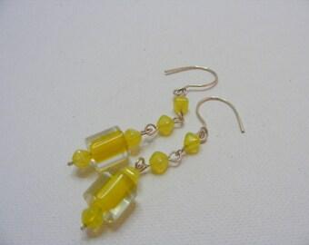 Lemon Glass Earrings