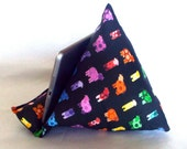 iPad Nook Kindle Pillow Stand in Colorful Cows