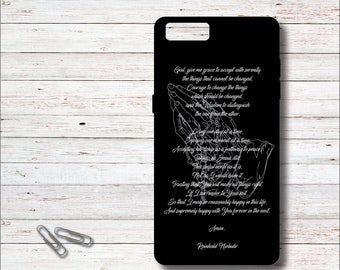 Serenity Prayer, Serenity Prayer Phone Cases, Praying Hands, Prayer Phone Cell Case, iPhone Case, Cell Phone Case, Personalized Phone Cases