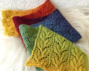 Wool knitted scarf. Multicolour scarf. Long scarf.