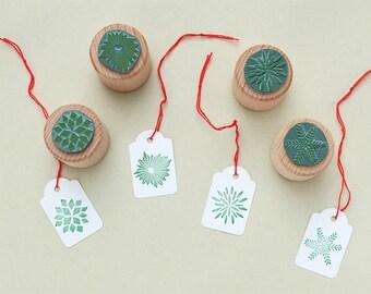 Rubber Stamps Stars mini | eco rubber stamp | Set of 4 christmas stars |STUDIO KARAMELO