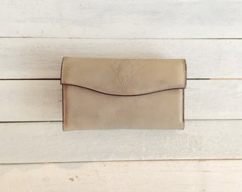 Vintage rolfs gray leather wallet, credit card holder,  checkbook, coin purse